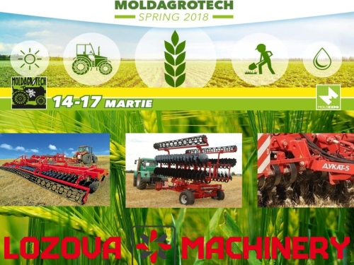 LOZOVA MACHINERY – traditional exhibitors at Moldagrotech-2018