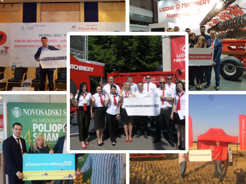 LOZOVA MACHINERY TOOK PART IN 100 AGRO EVENTS: results of 2017