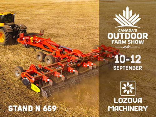 LOZOVA MACHINERY in Canada - Season Opening at Canada's Outdoor Farm Show