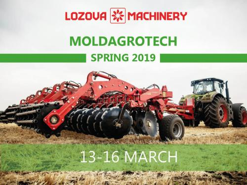 LOZOVA MACHINERY at spring exhibition MOLDAGROTECH-2019